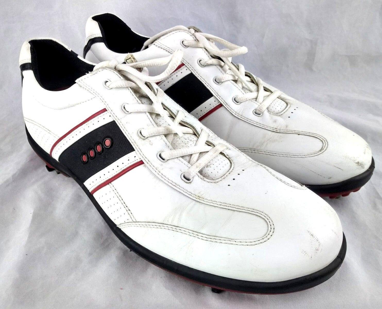 ecco - max mens eu - 47 us - 13-13.5 - golfschuhe weiß - rot - 13-13.5 schwarzes leder 83-10 17e64a