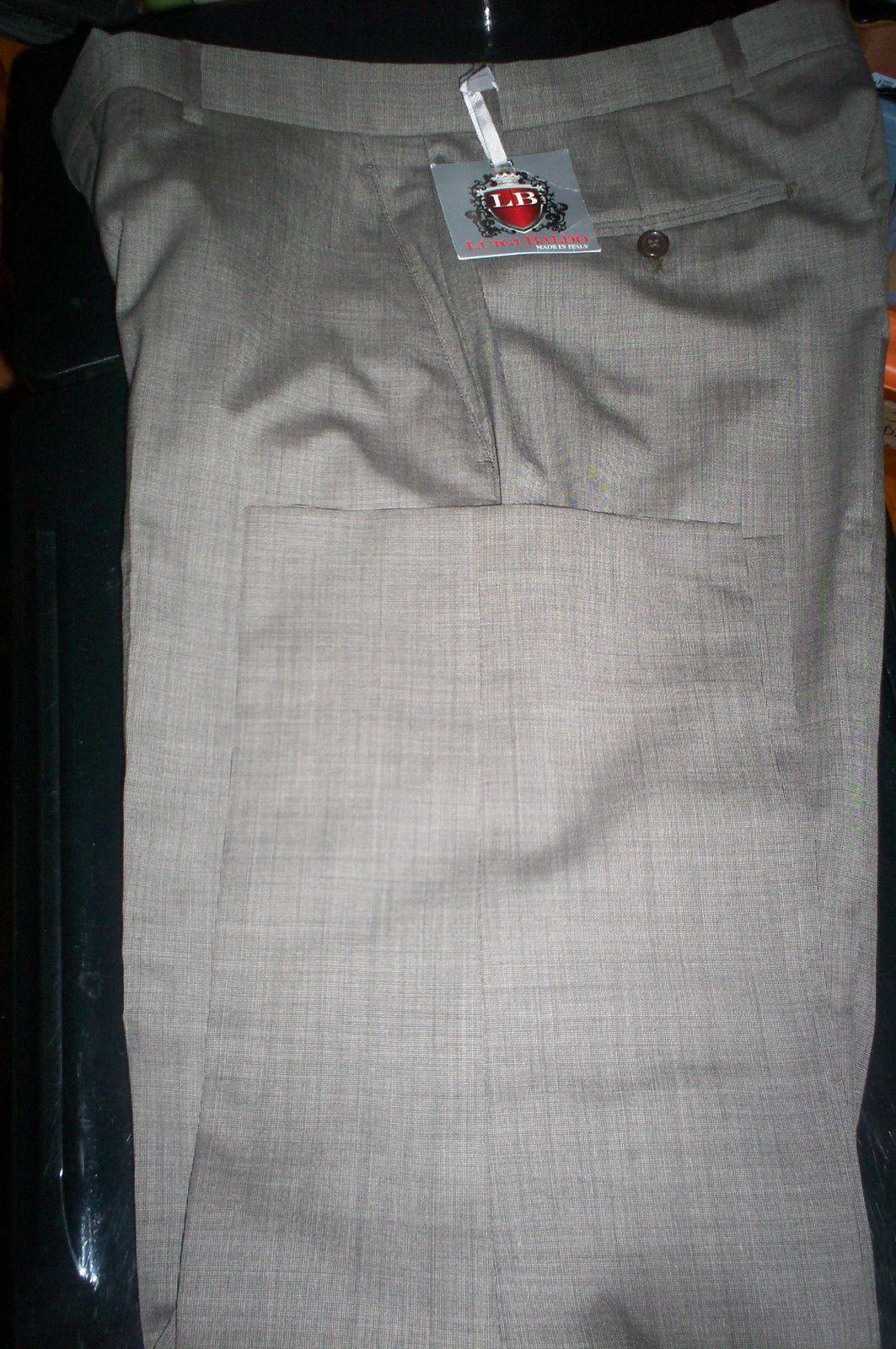 NWT  Luigi Baldo TOLLEGNO 1900 SUPER 130'S 100% Wool Dress Pants-BROWN- 38X29