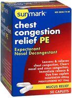 Sunmark Guaifenesin Pe Mucus & Sinus Relief Expectorant Decongestant 50 Caplets