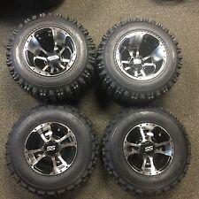 """10"""" SET 4  YAMAHA WARRIOR 350 MACHINED ITP SS112 Rims & Slasher Tires Wheels kit"""