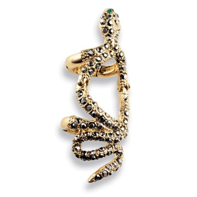 COME SLITHER Snake Ring Hinged at Knuckle mark Avon