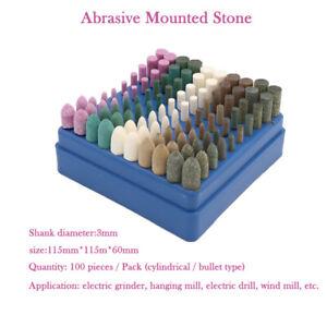 100pc-Tete-meule-pour-meule-pierre-abrasive-sur-tige-pour-kit-rotatif-Dremel