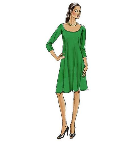 EASY VOGUE V8592 MISSES/' LOOSE-FITTING DRESS IN 2 LENGTHS SEWING PATTERN SZ 8-24