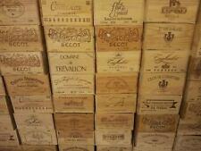 10 X secondi contrassegnato-bottiglia da 6 Taglia francese in legno cassa di Vino Scatola Cesto di stoccaggio.