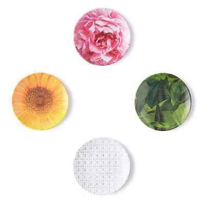 KATE SPADE - Tidbit Plates - Patio Floral Design - Set of 4 Melamine Plates