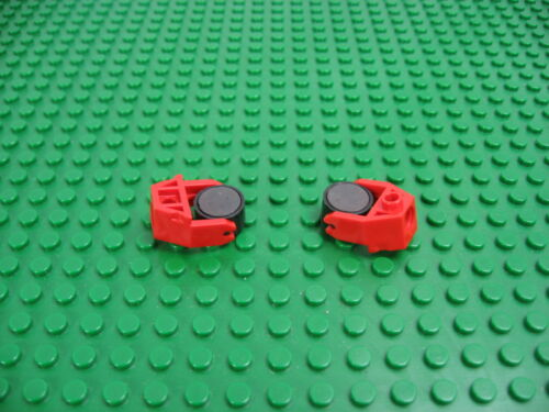 Lot 2 LEGO Magnetic Cylindrical w//Red Holder 2x3 6956 #73092 2607