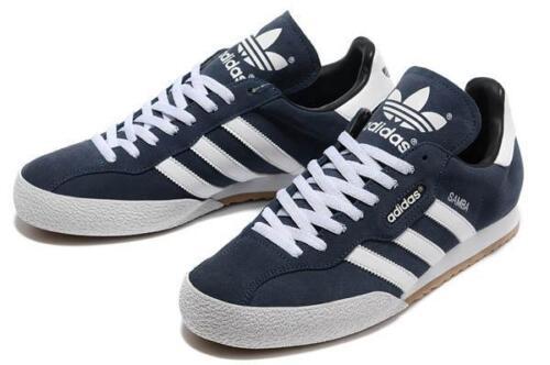 Samba 7 Blanc Baskets Nouvelle Super Taille Chaussures 019332 Suede Adidas 12 Originals Marine ZpBxwHqnt1