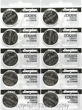 10pcs 2016 Energizer Watch Batteries CR2016 CR 2016Original Lithium Battery 0%HG