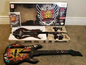 Nintendo Wii Guitar Bundle: Guitar Hero Warriors of Rock Red & Octane Sunburst