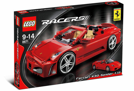 NEW Lego RACERS 8671 Ferrari 430 Spider 1:17 SEALED