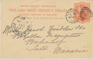 GB-1896-QV-1d-orangered-postcard-Duplex-cancel-034-LONDON-105-034-EARLIEST-DATE-USED