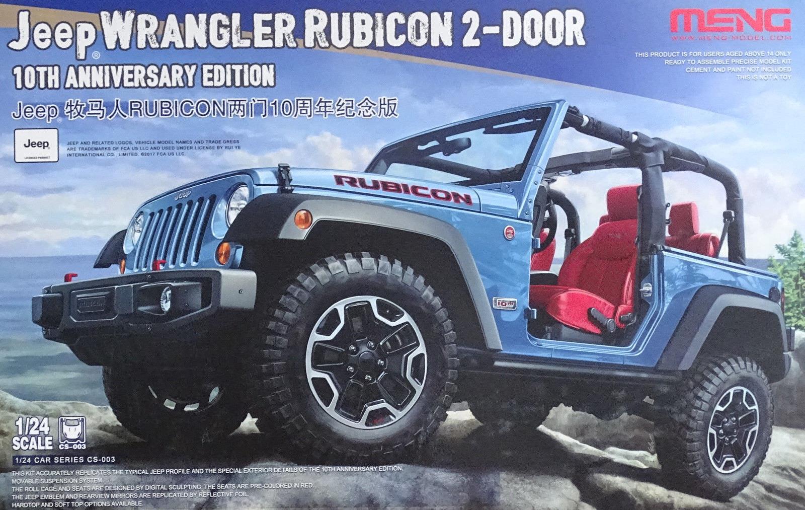 Hommesg 2013 Jeep Wrangler Rubicon 2-door 10th Anniversaire 1 24  Kit de Montage  distribution globale