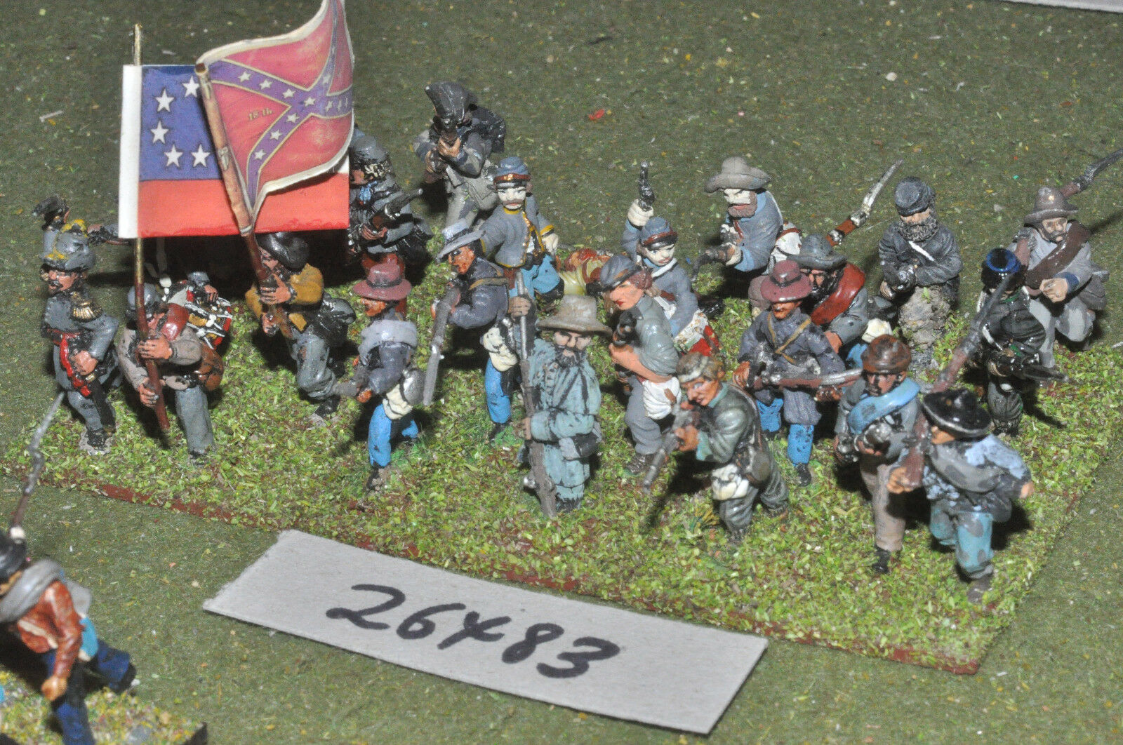 25mm ACW   confederate - regt. (plastic) 24 figures - inf (26483)