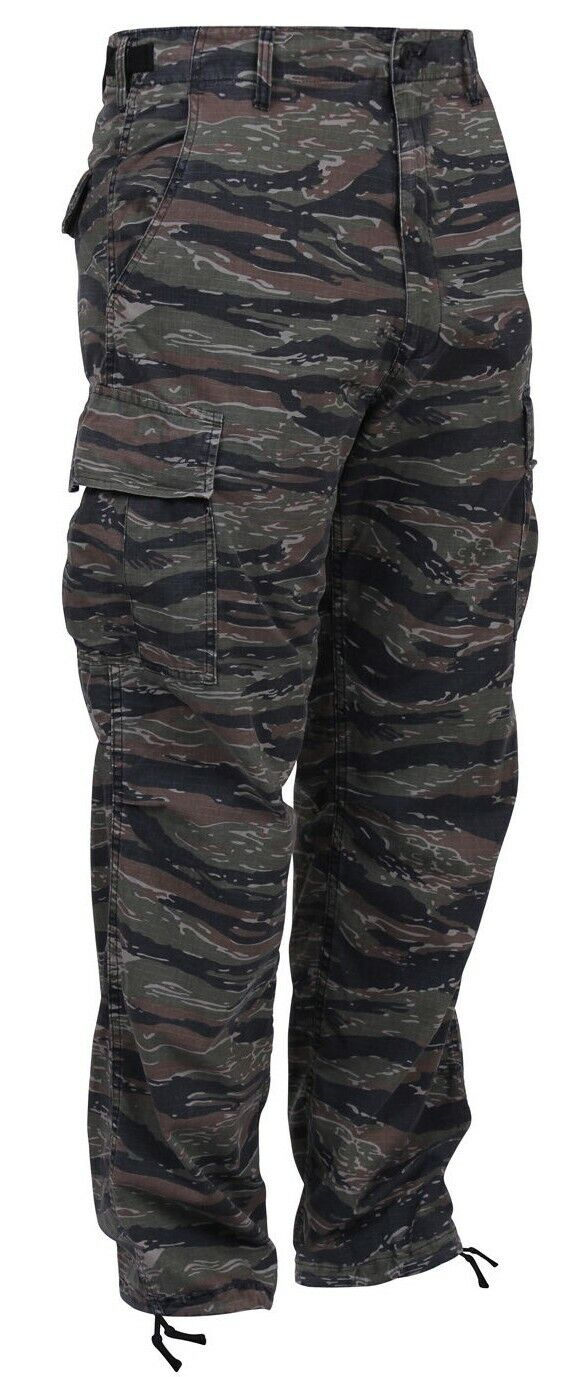 Bdu pants military style tiger stripe camo cargo trousers  redhco 7995