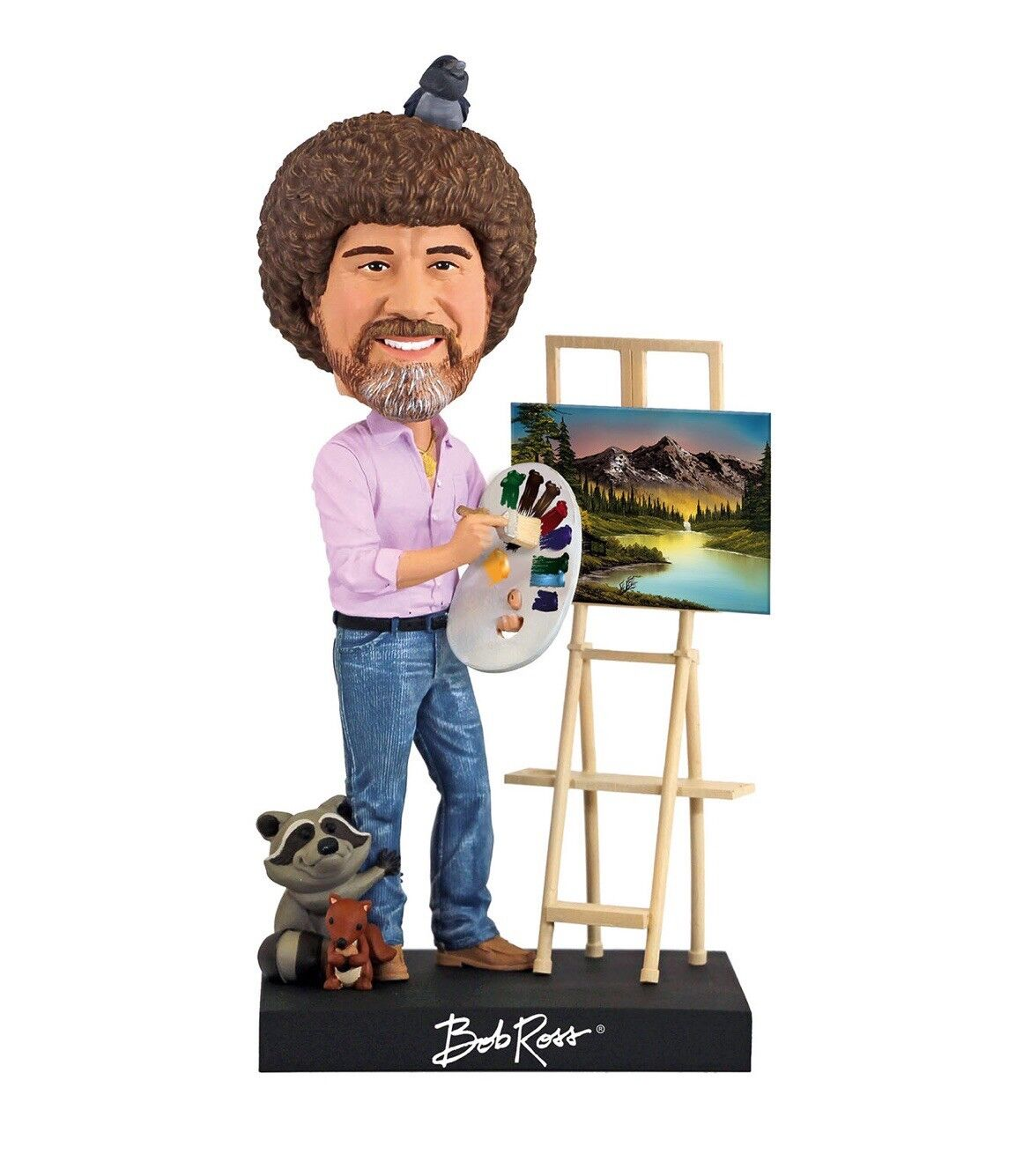 Bob Ross Limited Edition Figurine Bobblehead - In Collector's Box - 20cm