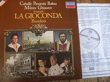D232D 3 Ponchielli La Gioconda / Cabballe, Pavarotti, etc. / Bartoletti 3 LP box