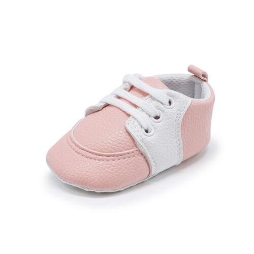Nouveau-né à 18 mois bébé garçons filles Crib Chaussures Bébé Baskets selles Chaussures