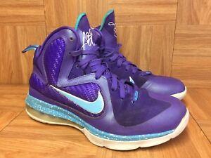 huge discount 9e0ed 33829 Image is loading RARE-Nike-LeBron-9-IX-Summit-Lake-Hornets-