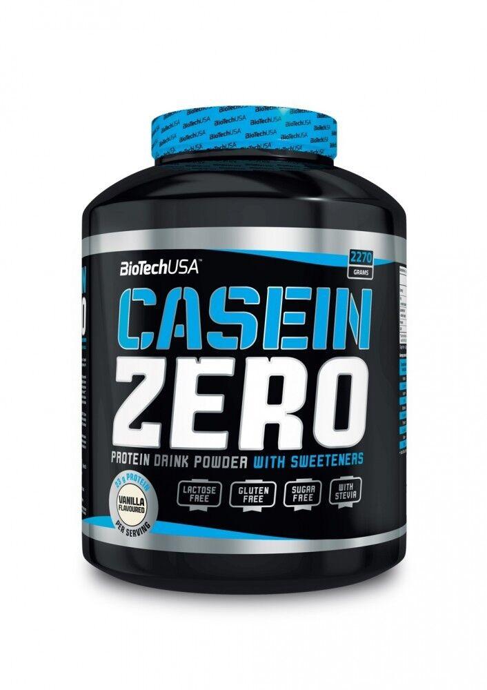 (  1kg) Biotech Usa Casein Zero 2270G + Gratis Shaker & Probe