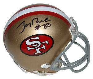 5b3aa4712 Image is loading 49ers-Jerry-Rice-Authentic-Signed-Mini-Helmet-Autographed-