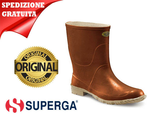 STIVALE SUPERGA MARRONE (TRONCHETTO) BASSO IN GOMMA (TRONCHETTO) MARRONE 3f05fc