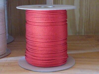 3//16 diamond braid mfp rope No core 1500 ft spool.White.USA