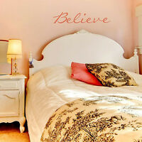 Believe Wall Quote Stencil - Wall Decor Stencils - Easy Diy Home Imporvement
