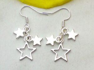Ohrringe *STERN Ohrhänger Star Sternchen Hänger mit Sternen Ohrschmuck