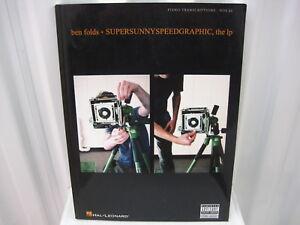 Ben-Folds-Supersunnyspeedgraphic-Piano-Transcriptions-Vocal-Sheet-Music-Book