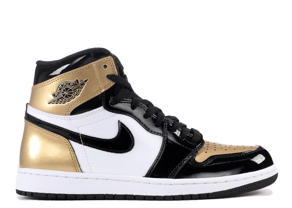 Nike Air Jordan 1 Retro High OG NRG  Gold Top 3  Brouge Toe Off  UE 46/us 12  New -