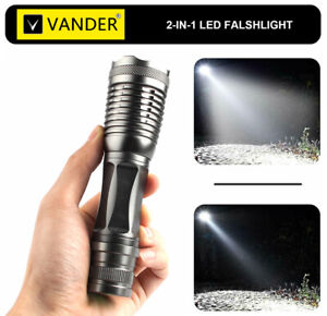 Super Bright LED Flashlight 5 Modes Tactical Zoomable XM-L T6 Torch 20000LM