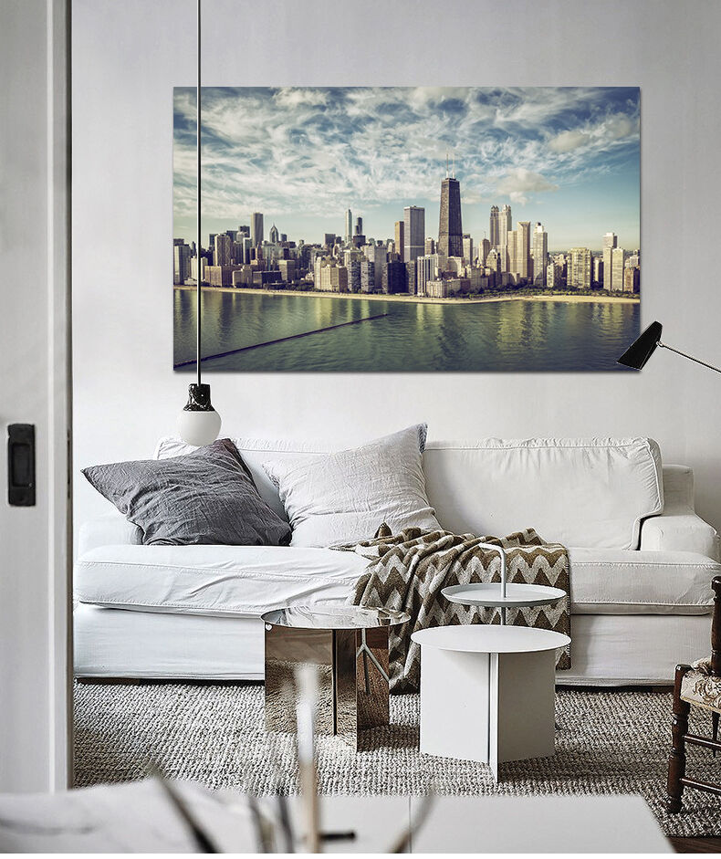 3D City Sky 64 Wall Stickers Vinyl Murals Wall Print Decal AJSTORE UK Lemon