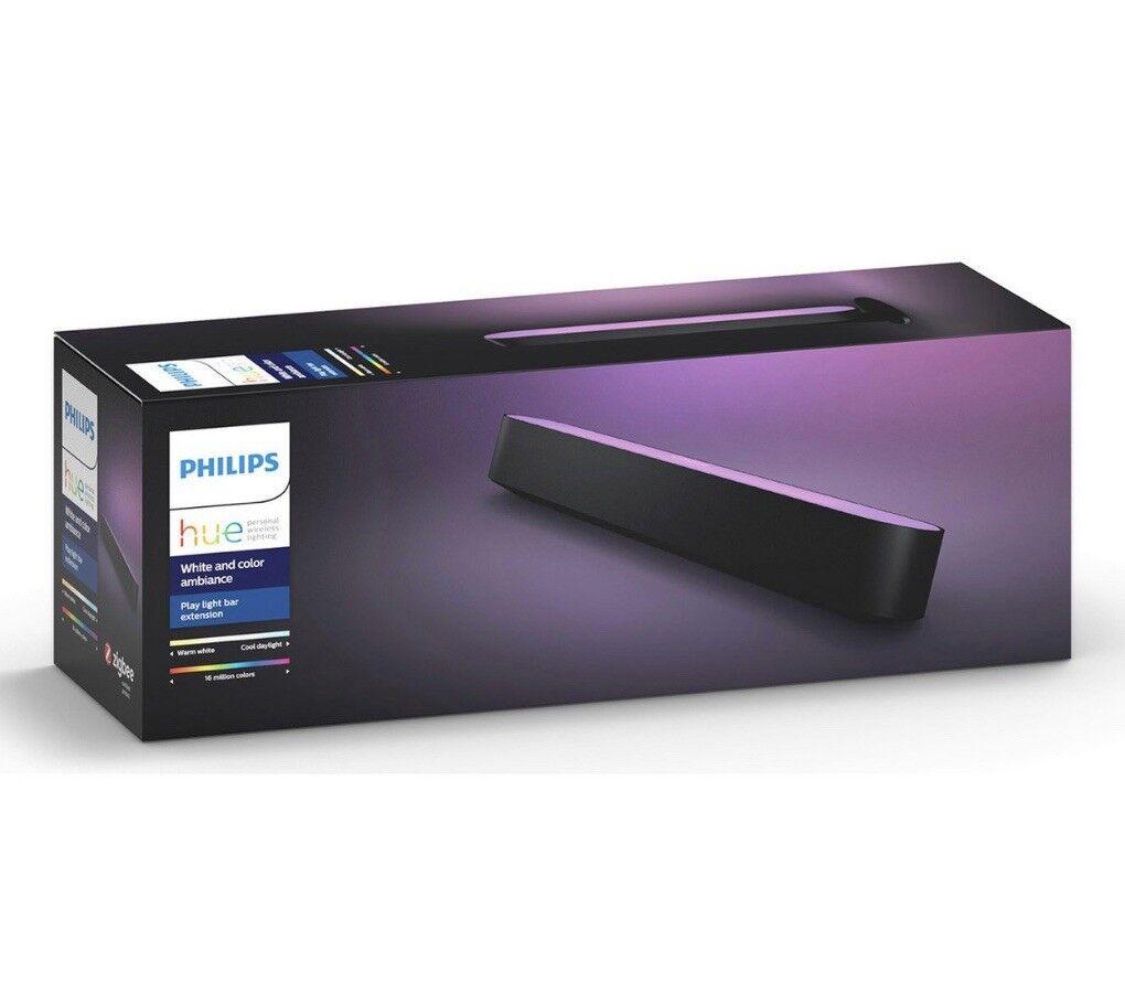Philips & Hue Jouer Couleur & Philips ambiance Smart DEL Light Bar Extension-Noir 4ed6f8