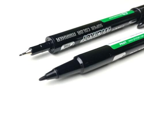 2 x PILOT Permanent-Marker Twin Marker schwarz 2 Spitzen 0,3+0,5 mm 4045701