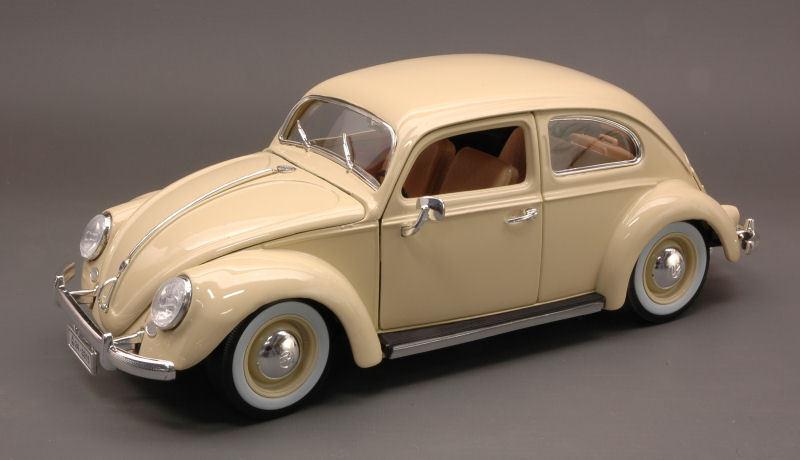 Volkswagen VW Kafer Beetle 1955 Cream 1 18 Model 12029CR BBURAGO