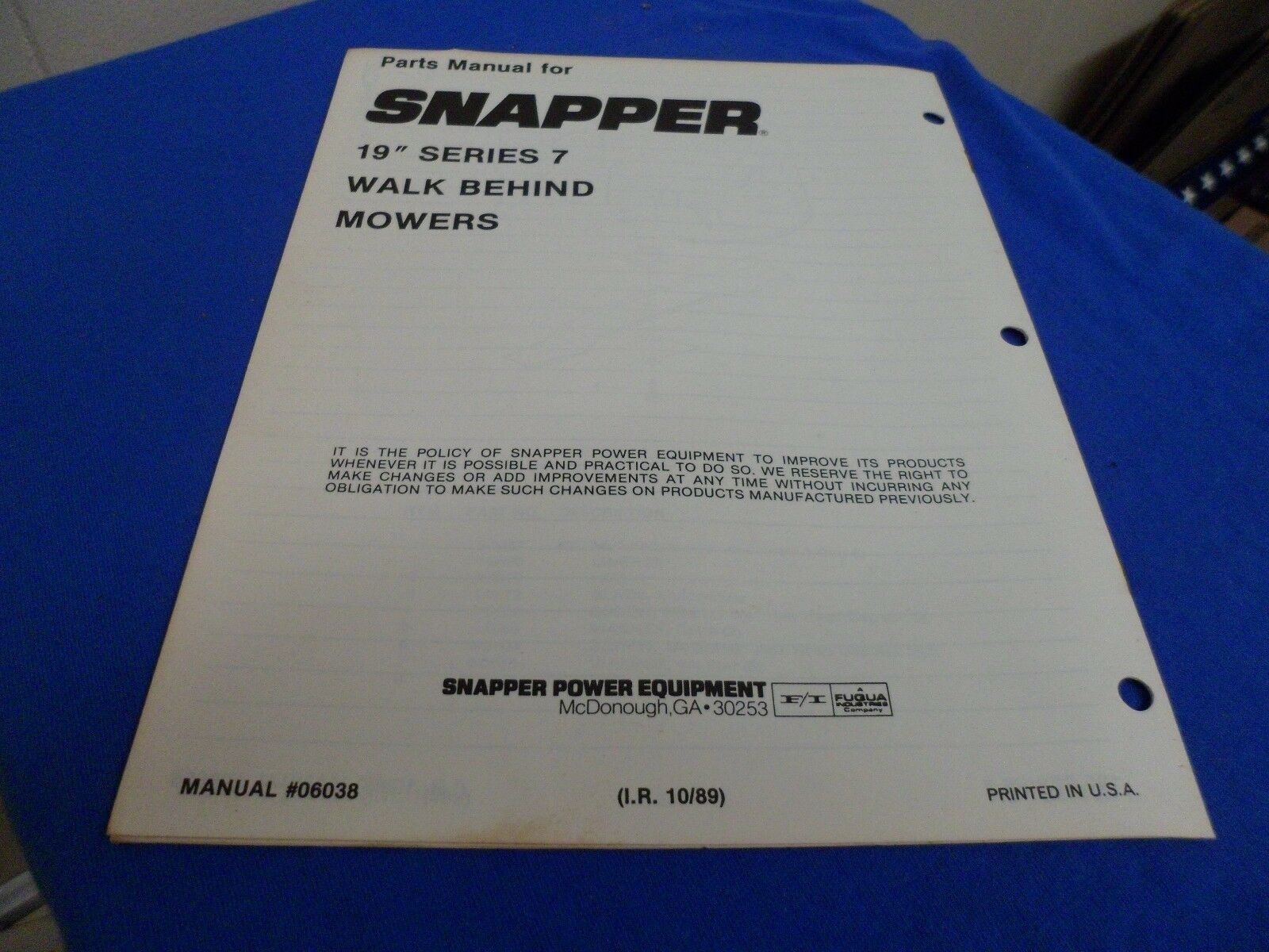 Parts Manual For Snapper 19 Series 7 Walk Behind Mowers Ebay Diagram Norton Secured Powered By Verisign