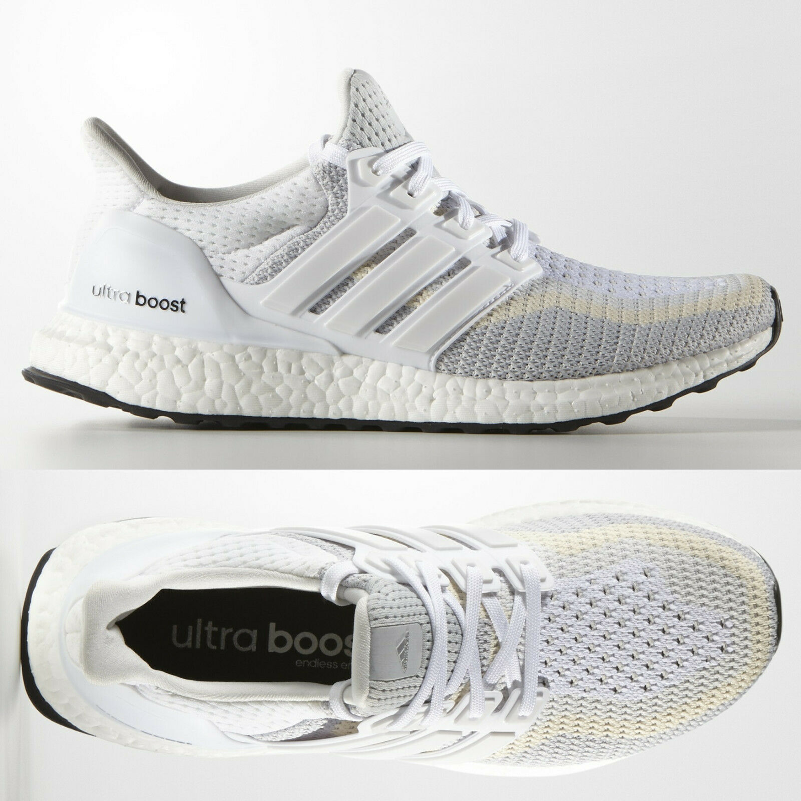 brand new 121ee 4c043 adidas Ultra Boost 2.0 Womens White Grey Running Shoes AF5142 UltraBOOST