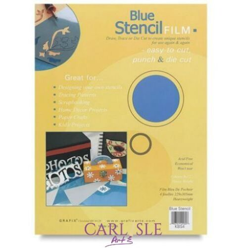 """Grafix Blue Stencil Film 12/"""" x 15/"""" x 10 Sheets"""