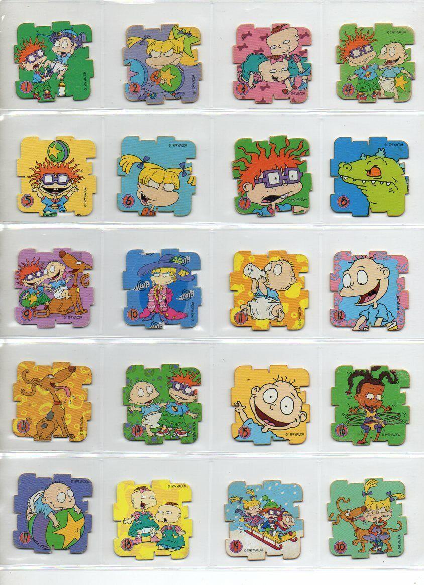 RUGRATS YOKOS Tazos Pogs cifras giocattolo  Collection giocattoli PUZZLE - Not completare set  liquidazione