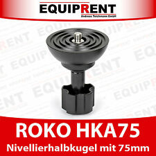 ROKO HKA75 Nivellieradapter / Nivellierhalbkugel / Halbkugeladapter 75mm (EQ206)