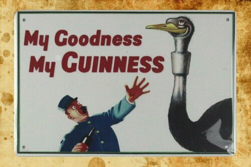 decorative wall plaques My goodness my guinness tin metal sign US Seller