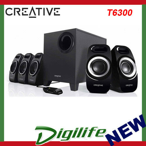 Creative T6300 Inspire Channel 5.1 Surround Sound Bass Stereo Speaker System