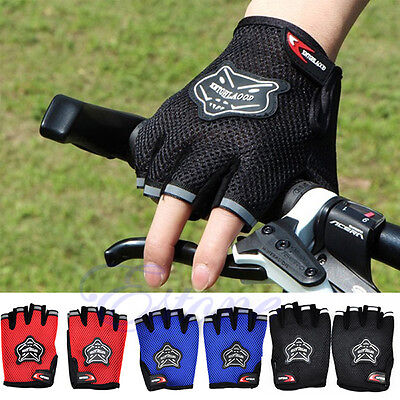 Outdoor Bicycle Mountain Bike Cycling Riding Antiskid Gel Half Finger Gloves New