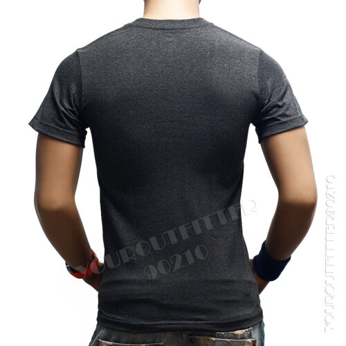 Men/'s T-Shirt HEAVY WEIGHT Plain V-Neck BIG AND TALL Hipster GYM Casual Tee