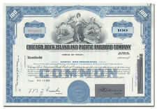 Chicago, Rock Island and Pacific Railroad Company Stock Certificate