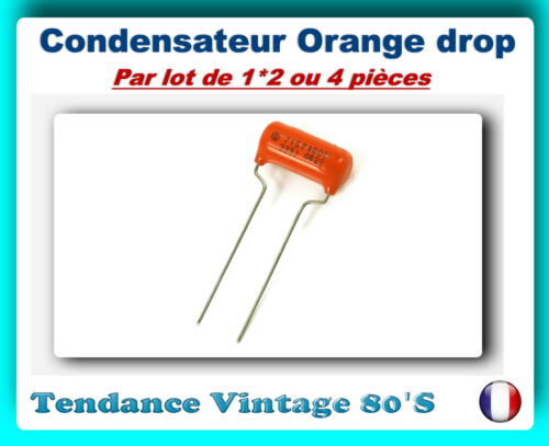 *** lot your choice of 1*2 or 4 orange drop capacitors 715p ***