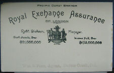Sutter Creek Ca Royal Exchange Assurance of London Pacific Coast Branch Blotter