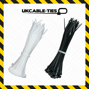 021b923b204a UV / Heat Resistant Cable Ties 100mm 200mm 300mm Nylon Plastic Black ...