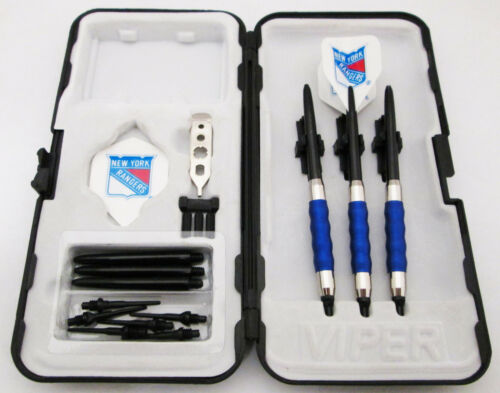 Blue New York Rangers Standard Sure Grip Soft Tip Dart Set + Case 16 gram - 1