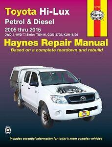 toyota hilux 2005 2015 petrol diesel workshop repair manual with rh ebay com au 2012 Toyota Hilux 4x4 Diesel 2013 Toyota Hilux Pick Up
